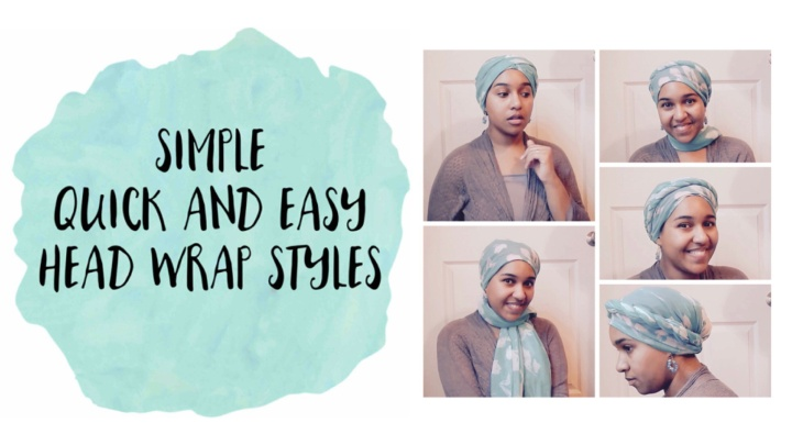 Quick Simple Easy Head Wraps Tutorial (Video)